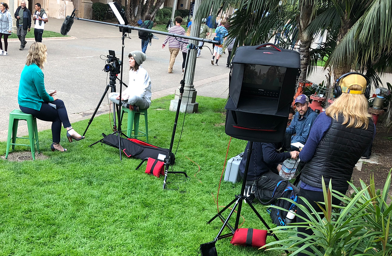 Production Crew in Balboa Park
